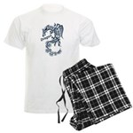Tribal Dragon Men's Light Pajamas