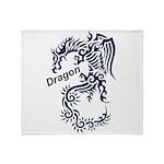 Tribal Dragon Throw Blanket