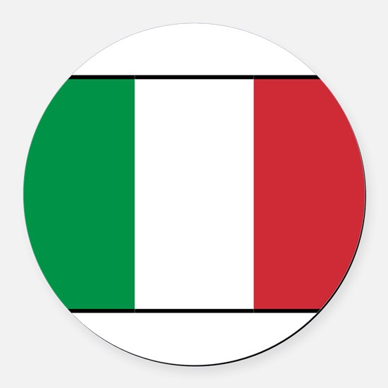 Italy - National Flag - Current Round Car Magnet