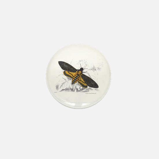 Deaths-head Hawkmoth Moth Mini Button