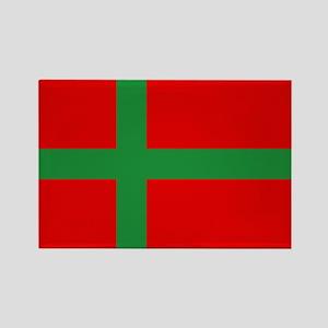 Flag of Bornholm Rectangle Magnet