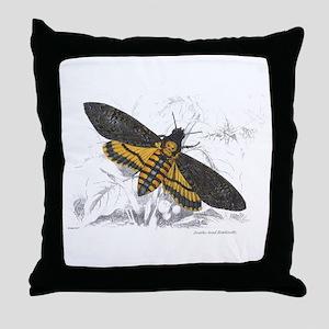 Deaths-head Hawkmoth Moth Throw Pillow