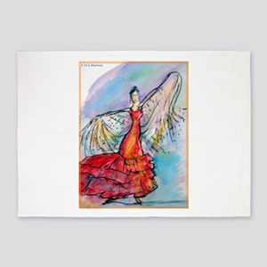 Flamenco dancer, art! 5'x7'Area Rug