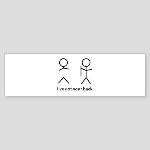 I've got your back Sticker (Bumper)