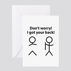 Got your back greeting cards cafepress i got your back greeting card m4hsunfo