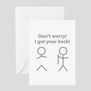 Dont worry greeting cards cafepress i got your back greeting card m4hsunfo