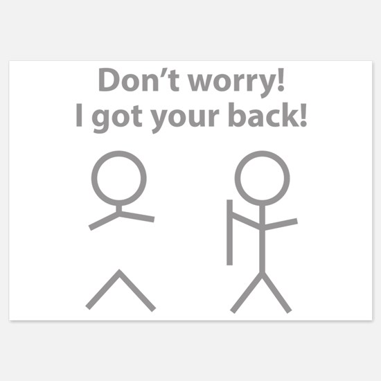 Don't worry! I got your back! 5x7 Flat Cards