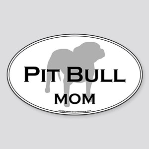Pit Bull MOM Oval Sticker