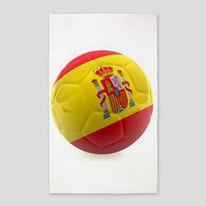 Spain world cup soccer ball 3'x5' Area Rug