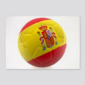 Spain world cup soccer ball 5'x7'Area Rug