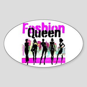 FASHION QUEEN Sticker (Oval)