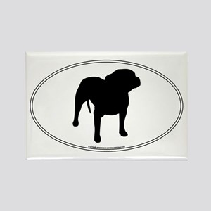 Pit Bull Silhouette Rectangle Magnet