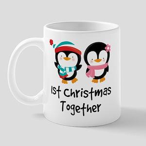 1st Christmas Together Penguin Mug