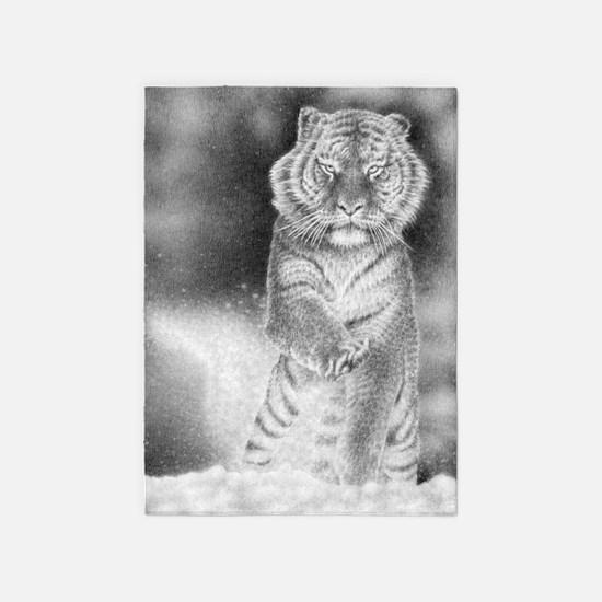 Siberian Tiger 5'x7'Area Rug
