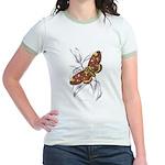 Dorycampa Regalis Moth Jr. Ringer T-Shirt