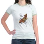 Dorycampa Regalis Moth (Front) Jr. Ringer T-Shirt