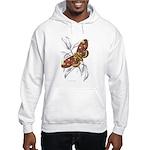 Dorycampa Regalis Moth (Front) Hooded Sweatshirt
