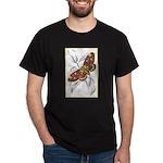 Dorycampa Regalis Moth (Front) Black T-Shirt