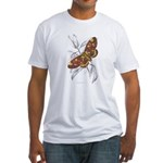 Dorycampa Regalis Moth (Front) Fitted T-Shirt