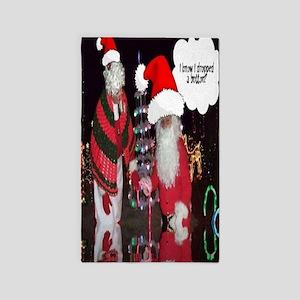 Christmas Santa Fun Art 3'x5' Area Rug