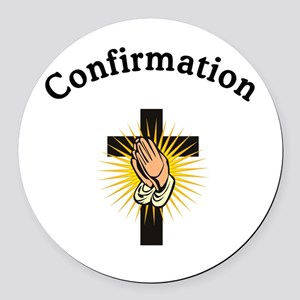 Confirmation Round Car Magnet