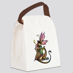 Dragon's Orbs Fairy and Dragon Art Canvas Lunch Ba