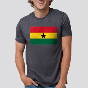 Ghana - National Flag - Current Mens Tri-blend T-S