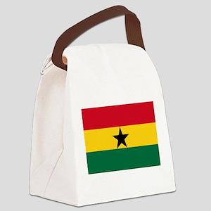 Ghana - National Flag - Current Canvas Lunch Bag