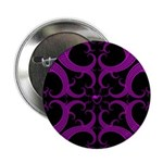 Purple and Black Goth Heart Pattern 2.25