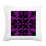 Purple and Black Goth Heart Pattern Square Canvas