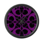 Purple and Black Goth Heart Pattern Large Wall Clo
