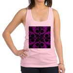 Purple and Black Goth Heart Pattern Racerback Tank