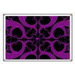 Purple and Black Goth Heart Pattern Banner