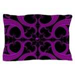 Purple and Black Goth Heart Pattern Pillow Case