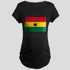 Ghana - National Flag - Current Maternity Dark T-S