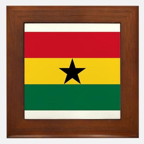 Ghana - National Flag - Current Framed Tile