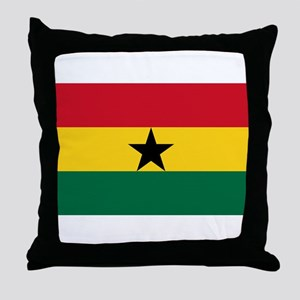 Ghana - National Flag - Current Throw Pillow