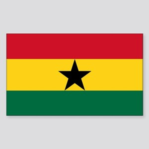Ghana - National Flag - Current Sticker (Rectangle
