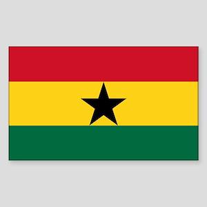 Ghana - National Flag - Current Sticker (Rectangle
