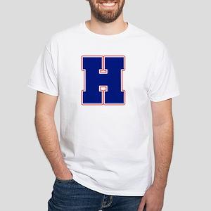 """""""Letter H"""" White T-shirt"""
