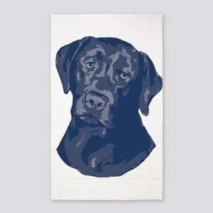 black lab in blue 3'x5' Area Rug