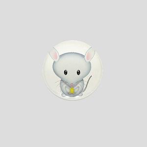 Little White Mouse Mini Button