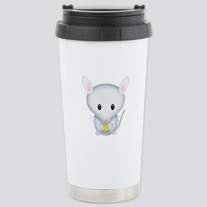 Little White Mouse Stainless Steel Travel Mug