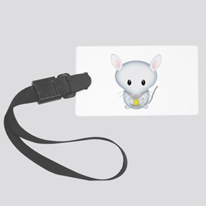 Little White Mouse Large Luggage Tag