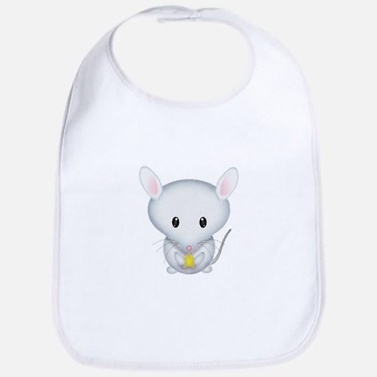 Little White Mouse Bib