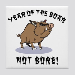 Year of The Boar Tile Coaster
