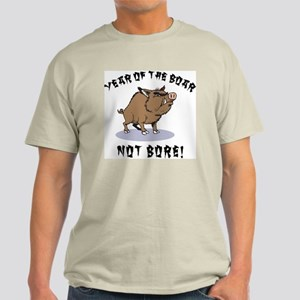 Year of The Boar Ash Grey T-Shirt