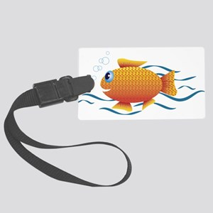 Custom Made Gold Fish Large Luggage Tag