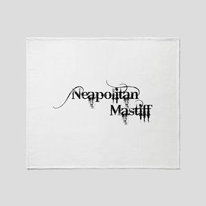 Neapolitan Mastiff - Black Throw Blanket