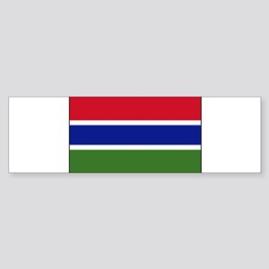 Gambia - National Flag - Current Sticker (Bumper)